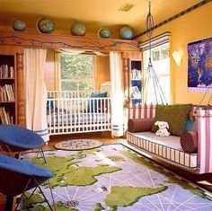absolutely LOVE this geography-themed nursery