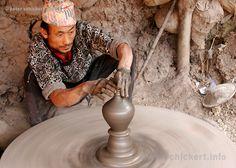 Artesão em Bhaktapur