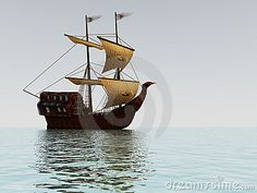 Sailing Ship At Sunset Royalty Free Stock Photography - Image ...