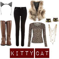 DIY Halloween Costume: easy last minute kitty cat Black Cat Costumes, Cute Halloween Costumes, Animal Costumes, Halloween Dress, Halloween Kostüm, Diy Costumes, Costume Ideas, Halloween Customs, Cheetah Costume