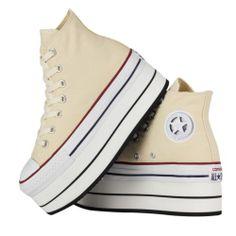 [KLACK SMITH]  Unisex Casual Customized Converse Shoes_PALTFORM_H (Navy, Beige)