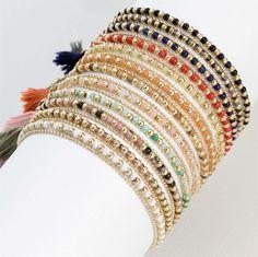 Gold plated multicoloured bracelets for #Spring2017 🌈✨ merxwholesale.com
