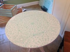 A Little Ikea Table Gets a Big Makeover - CES Stephanie s Lace Allover