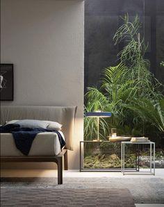 Spektakuläres Schlafzimmer mit Glastrennwand zum Wintergarten.   #inspiration #wintergarten #schlafzimmer #bedroom #furniture #interiordesign #ideen #möbel