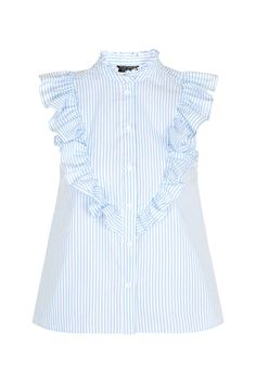 Sleeveless Ruffle Stripe Shirt - COOL FOR THE SUMMER - We Love - Topshop Europe