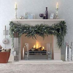 Gut 5 1 Ideas Para Decorar La Chimenea Por Navidad Mehr Ideen, Weihnachten Kamin,  Weihachtsgirlanden