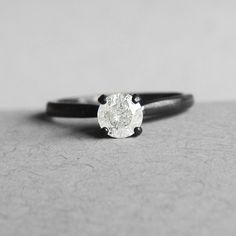 White Galaxy Diamond Ring .5 Carat – Midwinter Co. Ethical Conflict Free Fair Trade Eco friendly USA made genuine engagement black oxidized