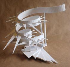 Clara Lieu, RISD Pre-College Design, Design Foundations course, Staircase Sculpture Assignment, foam board, 2016