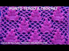 YouTube Crochet Afghans, Crochet Stitches Patterns, Crochet Squares, Stitch Patterns, Crochet Diagram, Crochet Chart, Filet Crochet, Cute Crochet, Knit Crochet