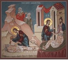 """""""Go and Do Likewise"""" as Our Response to Evil: Homily for the Sunday of Luke in the Orthodox Church – Eastern Christian Insights Religious Images, Religious Icons, Religious Art, Greek Icons, Church Icon, Paint Icon, Hope In God, Life Of Christ, Byzantine Icons"""