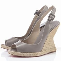 Christian Louboutin You Love Wedges Leather Taupe ❣