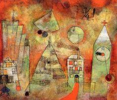 Paul Klee, Schicksalstunde um dreiviertel zwölf (Fateful hour at a quarter to twelve) on ArtStack #paul-klee #art