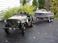 custom pedal car and boat by hondadudecanada, via Flickr
