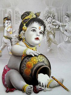 Butter Thief Krishna poster-reprint on inches) - Car Recommendation For Womans Baby Krishna, Krishna Lila, Little Krishna, Cute Krishna, Yashoda Krishna, Radha Krishna Photo, Krishna Art, Shree Krishna, Hanuman