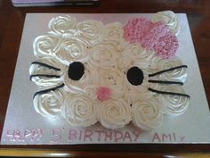 Hello Kitty Cupcake Birthday Cake