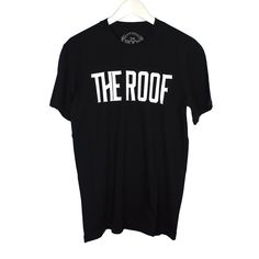 The Roof Team Logo Black Tee has a comfortable fit and made of a premium and sturdy cotton and an elastic round neck that offers comfortably and elastically on your skin.  Provides a good looking and a professional touch.