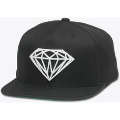 Brilliant Snapback in Black ($40) ❤ liked on Polyvore featuring accessories, hats, snapback hats, snap back hats, holiday hats and cocktail hat