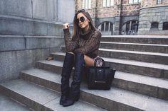 KenzaZouiten Over Knees Boots Fall Fashion