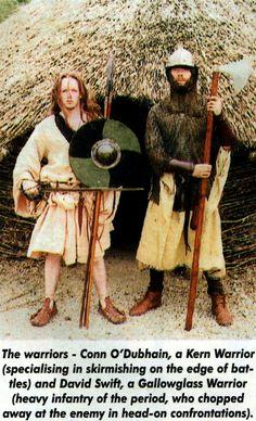 Irish Clothing, Celtic Clothing, Scottish Warrior, Irish Warrior, Historical Costume, Historical Clothing, Scotland History, Celtic Warriors, Viking Age