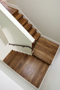 Hickory Stair Hickory Flooring, Open Concept, Bath Caddy, Projects To Try, Scale, Entryway, New Homes, Stairs, Cottage