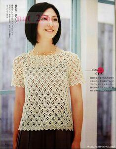 White collar hook parquet clothes - - and knitting tirelessly Modern Crochet, Love Crochet, Knit Crochet, Sewing Stitches, Knitting Patterns, Crochet Magazine, Crochet Cardigan, Crochet Fashion, Ladies Boutique
