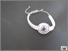 bracelet shamballa blanc simple perle en pâte polymère polymer clay http://ellefimote.canalblog.com/