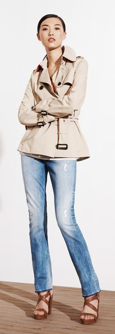 Tommy Hilfiger SS13 New Classic Trench Coat, Ashley Sweater, Milan Skinny Jeans, Ashley Sandal