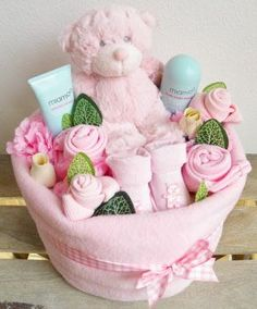Just ordered this! Baby Girl Nappy Cake Bouquet Arrangement