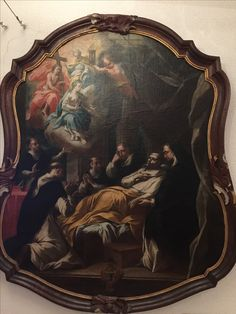 The death of St. Dominic. Peter Seila's house, Toulouse, France