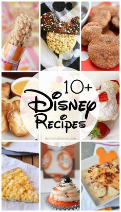 Disney Recipes - perfect for a fun Disney themed treat at home! Disney Dishes, Disney Desserts, Disney Food Recipes, Disney Drinks, Disney Fun, Disney Themed Food, Disney Inspired Food, Rice Krispie Treats, Rice Krispies