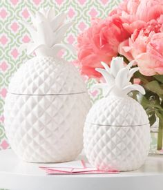 Pineapple Jars (Two Sizes)- For Kitchen Counter