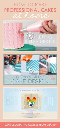 This skill-sharing site offers hundreds of cake decorating classes to help you create professional-looking cakes at home! I've taken Craftsy classes before and even though there are different instructors for each one, I've never been disappointed by the quality. Plus, since many of the teachers run their own professional cake business, you know you're learning GOOD STUFF!