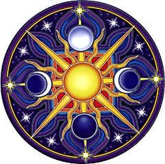 """Celestial Mandala Window Sticker - Bring your windows to life with these luminous window stickers.High quality, permanent-stick artwork in beautiful translucent colors. For indoor or outdoor use. For any window, glass door or smooth flat surface. 4.5"""" Diameter."""