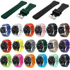 18 colors cao su wrist strap cho samsung gear s3 frontier silicone xem nhạc cho samsung gear s3 cổ điển bracelet nhạc 22 mét