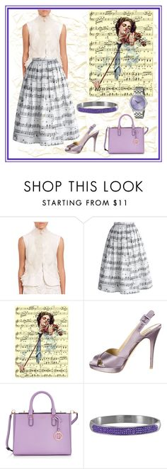 """""""Music Inspiration"""" by yaschy ❤ liked on Polyvore featuring Oscar de la Renta, Chicwish, Valentino, Henri Bendel and 88 RUE DU RHONE"""
