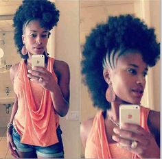 Frohawk. To learn how to grow your hair longer click here - http://blackhair.cc/1jSY2ux
