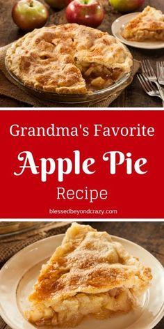 Grandma's Light-as-a-Feather Doughnut Recipe - Apple Pie Recipe Easy, Homemade Apple Pie Filling, Best Apple Pie, Easy Pie Recipes, Apple Pie Recipes, Homemade Pie, Classic Apple Pie Recipe, Grandmas Apple Pie, Most Popular Desserts