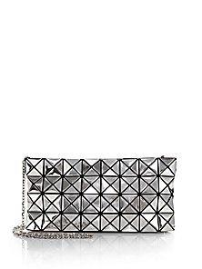 Bao Bao Issey Miyake Platinum-1 Metallic Faux-Leather Clutch Silver Bags d9431beb77f66