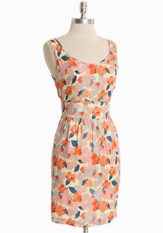Botanical Bliss Floral Dress By Tulle | Modern Vintage Dresses...cute back design tooo