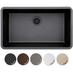 Lexicon Platinum Quartz Composite Kitchen Sink (Large Single Bowl) - 18544606 - Overstock - Great Deals on LEXICON Kitchen Sinks - Mobile
