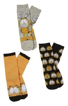 Garfield Cartoon, Garfield And Odie, Crazy Socks, Cute Socks, Lingerie, Fashion Socks, Primark, Loungewear, Sock Shoes