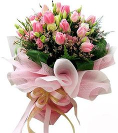 Whether you want to send flowers at midnight or on a fixed time, you can easily find out plenty of flower delivery providers to get your job done online. Bouquet Wrap, Gift Bouquet, Hand Tied Bouquet, Wonderful Flowers, Pink Flowers, Beautiful Flowers, Bunch Of Flowers, Arte Floral, Flower Boxes