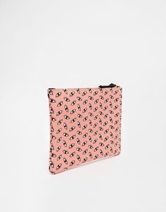 Enlarge Falconwright Leather Clutch in Pink Eye Print