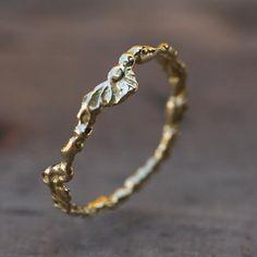Alliance fine en or et diamants par Anaïs Rheiner pour l'Atelier des BIjoux Créateurs.