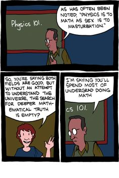 Math and physics mentions in a comic.  Okay, which one of you wrote this for me? #mathematics #physics