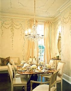 This wall design would look great in any dining area. Mary Douglas Drysdale