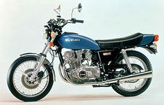 Suzuki ... 1976  GS750    The GS750 was the 4-stroke machine released by Suzuki after an interval of 20 years. The newly developed DOHC 4-cylinder engine generated 68ps at 8,500rpm and exhibited smooth throttle response. The GS750 was relatively light at 223kg. Its outstanding dynamic performance made it extremely popular, and the GS series, included the GS400 released at the same time, instantly became the top-selling machines.