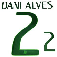 Brazil 2014/15 Dani Alves #2 Adult Home Name Set