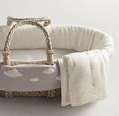 ♡ ChidLitInteriors . Kids Room Design . Nursery Design . Unique . Ideas | Nursery gear . Bouclé Cloud Moses Basket Bedding