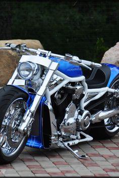 """Harley Davidson V Rod """"Blue"""" by Fredy"""